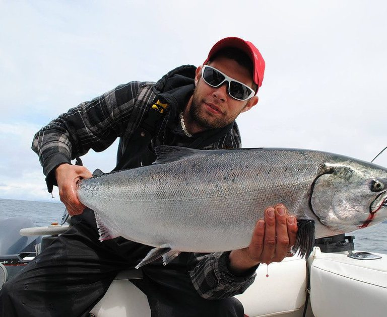 Salming Fishing on Boat