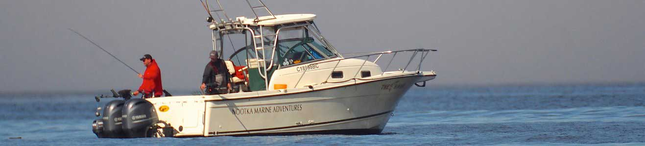 Nootka Marine Adventures chartered boat fishing vancouver island with fishing guide