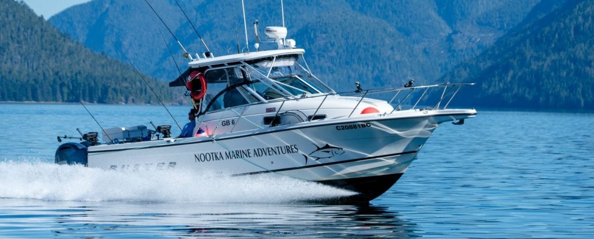 Nootka Marine Adventures chartered boat fishing on vancouver island with fishing guide