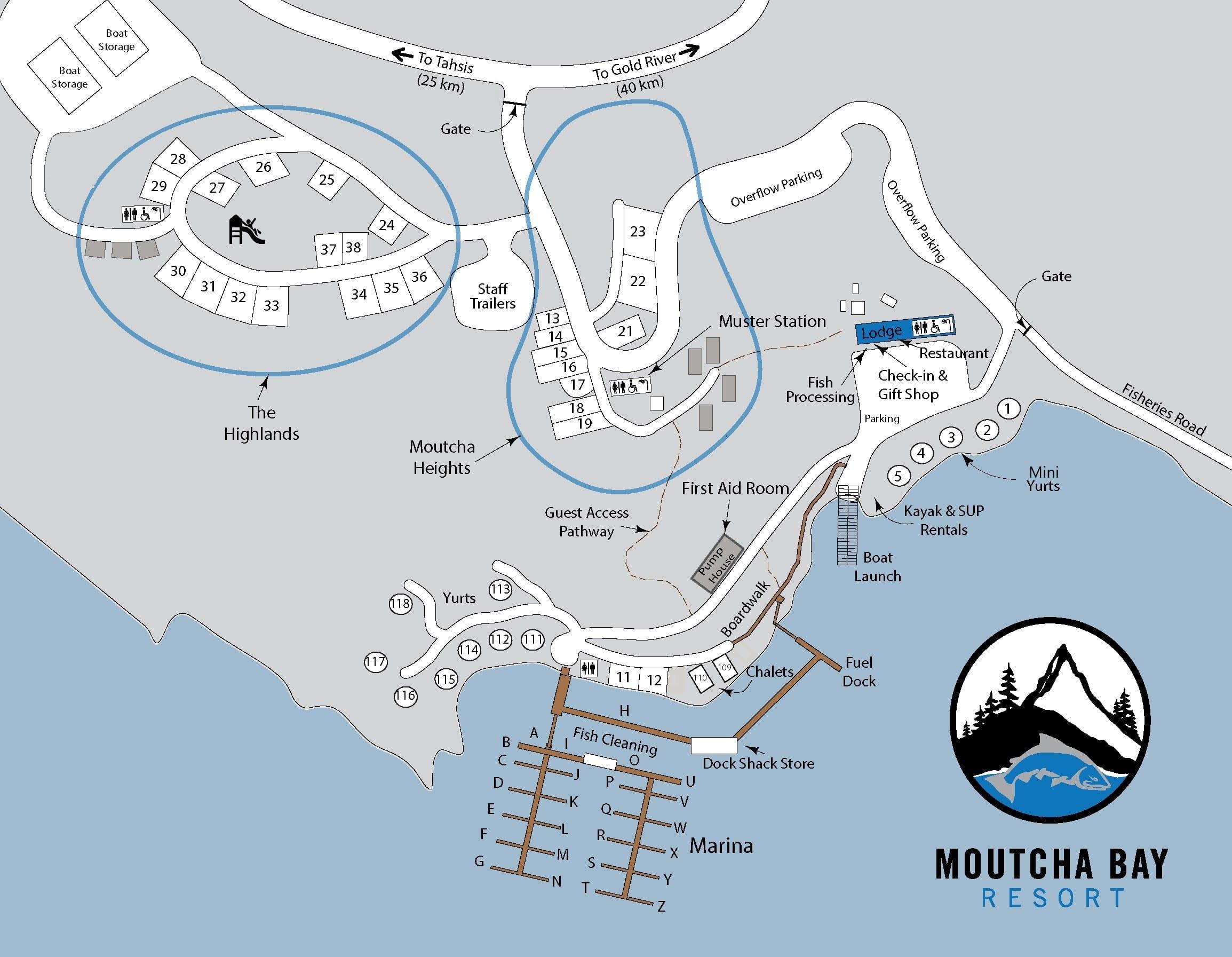 Moutcha Bay Resort Map