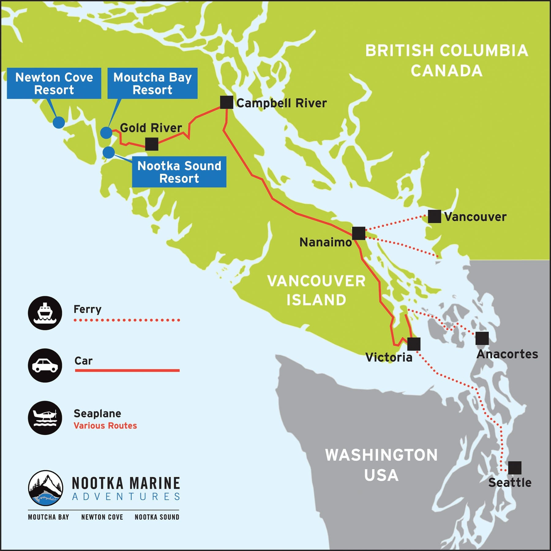 Nootka Sound Getting Here Travel Directions